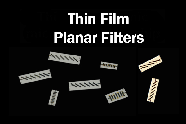 Thin Film Planar Band-Pass Filter Chip